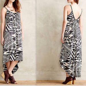 Anthropologie Sam La Vi Black White Maxi Dress